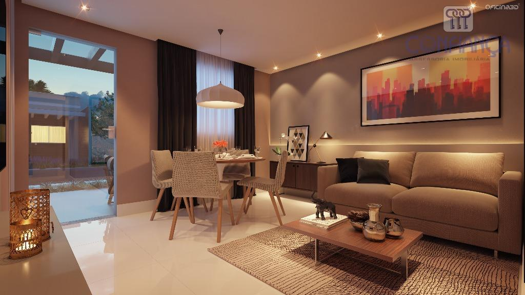 encantador condomínio com casas de 2 quartos lineares, sendo 1 suite, estilo contemporâneo, condomínio com piscina...