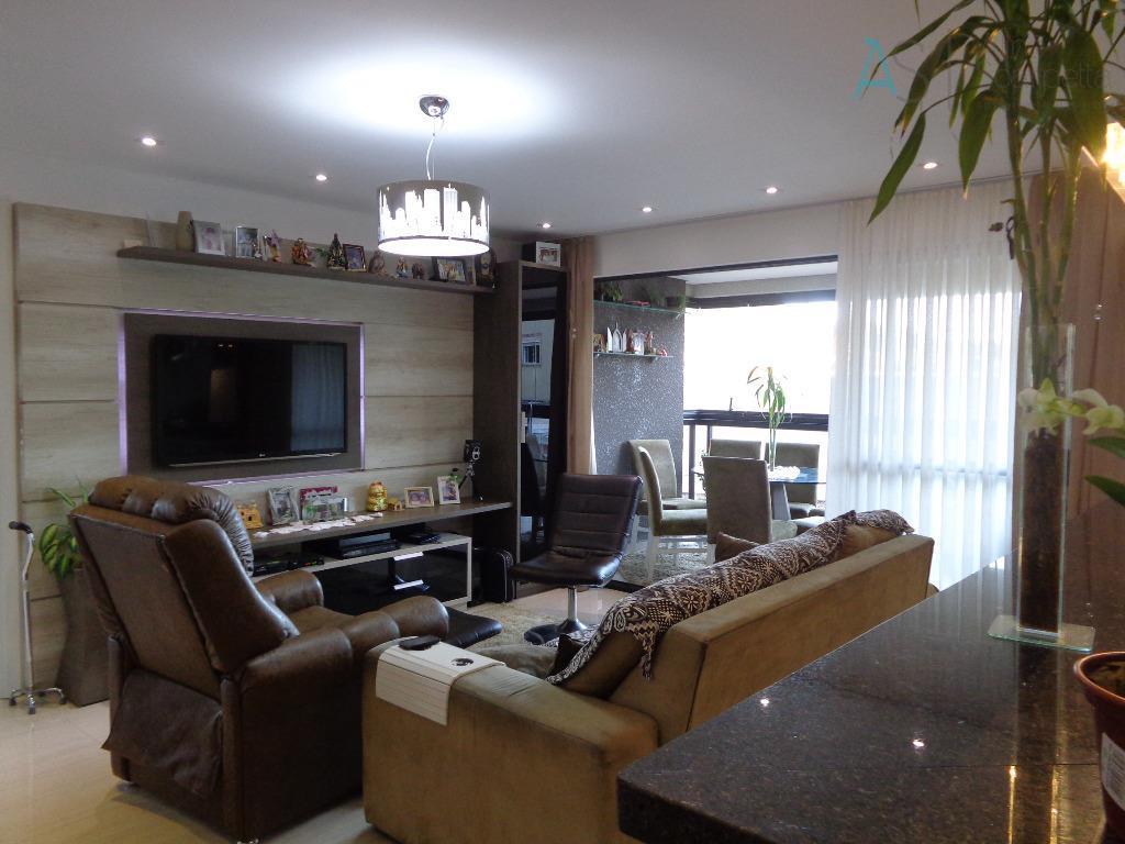 lindo apartamento com móveis planejados, acabamento em gesso, sala para 2 ambientes, sacada com churrasqueira, cozinha,...