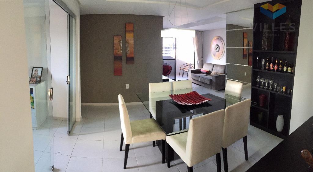 Apartamento por Temporada, 3/4 - 2 suítes -135m2 na Ponta Verde.