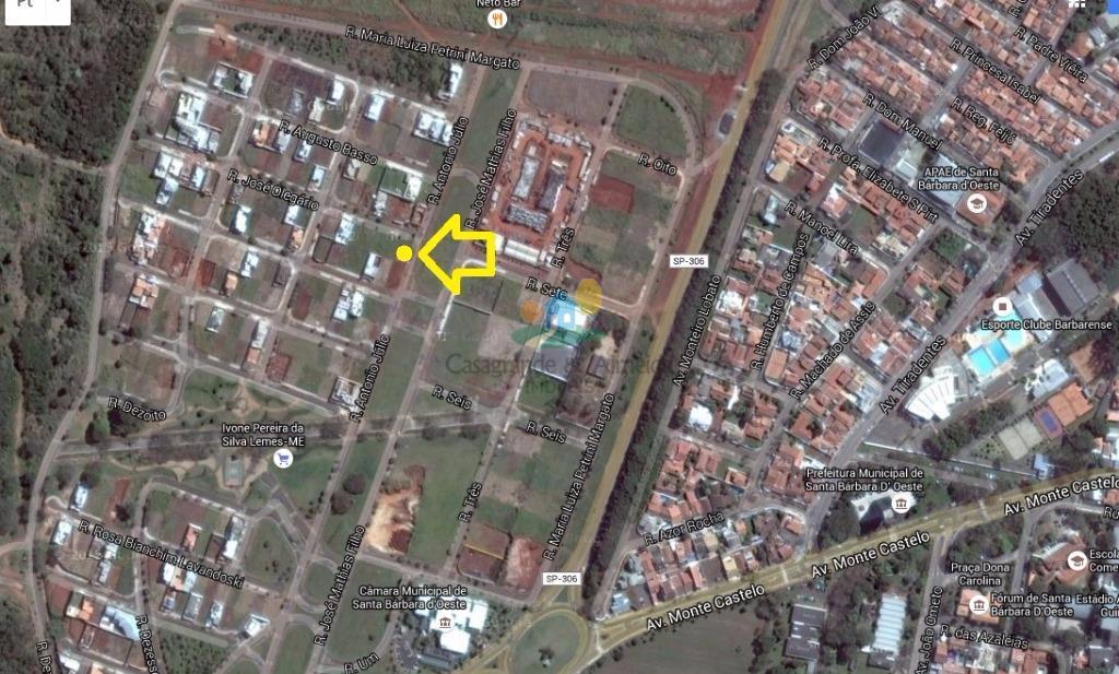 Terreno  residencial esquina, Residencial Dona Margarida, Santa Bárbara D'Oeste.