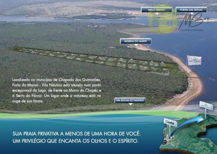 Terreno - Venda, Condomínio Porto do Manso - Lagoa do Manso, Chapada dos Guimarães - MT