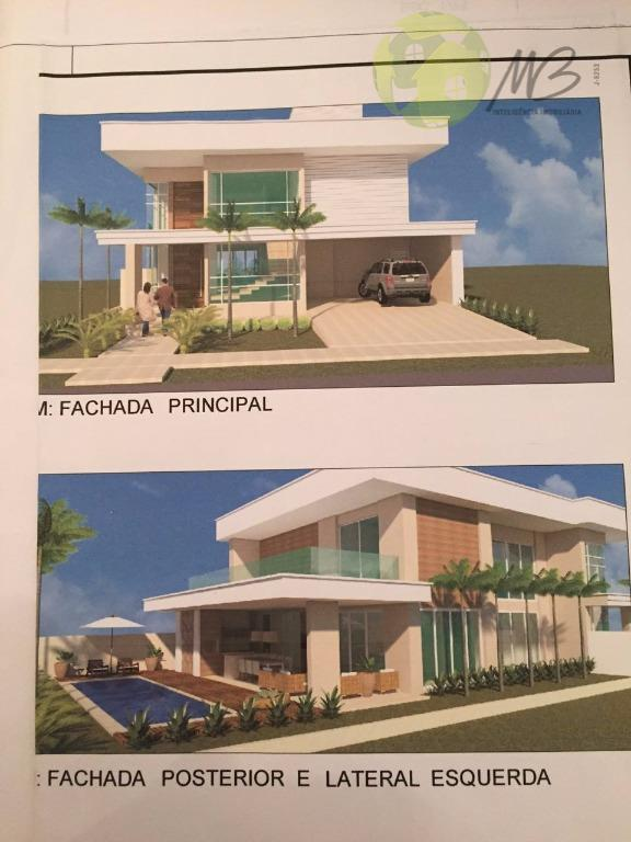 Sobrado residencial à venda, Condomínio Residencial Florais dos Lagos, Cuiabá.