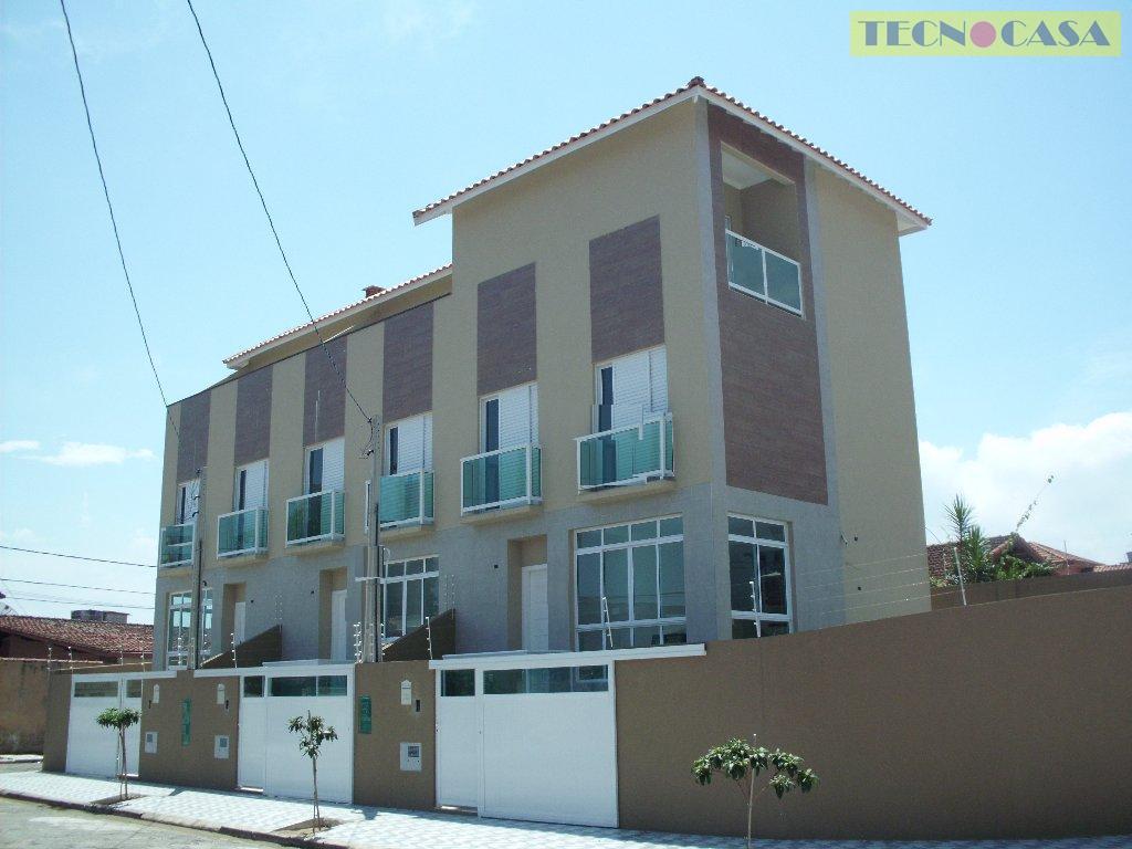 Sobrado residencial à venda, Vila Guilhermina, Praia Grande - SO0701.