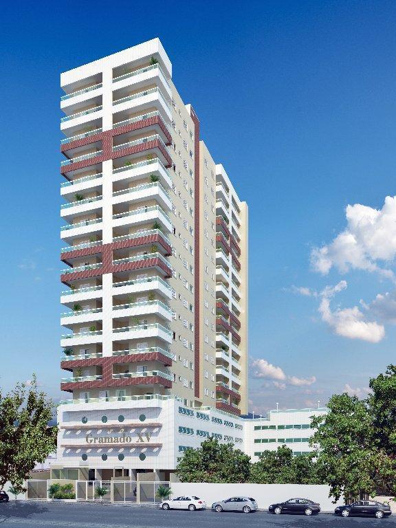 Apartamento residencial à venda, Vila Guilhermina, Praia Grande - AP2403.