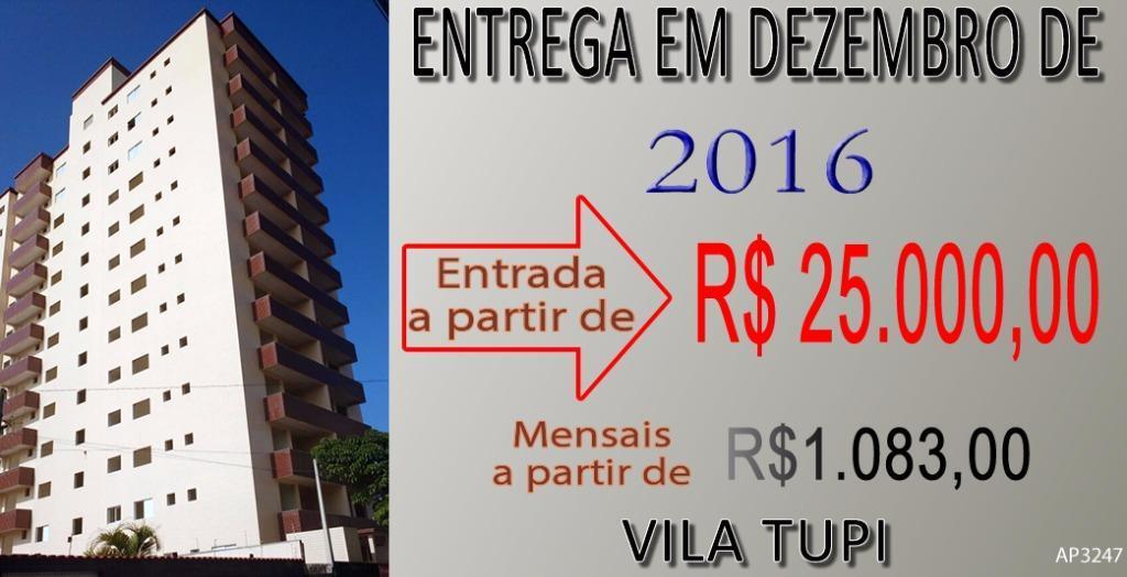 Apartamento residencial à venda, Vila Tupi, Praia Grande - AP3247.