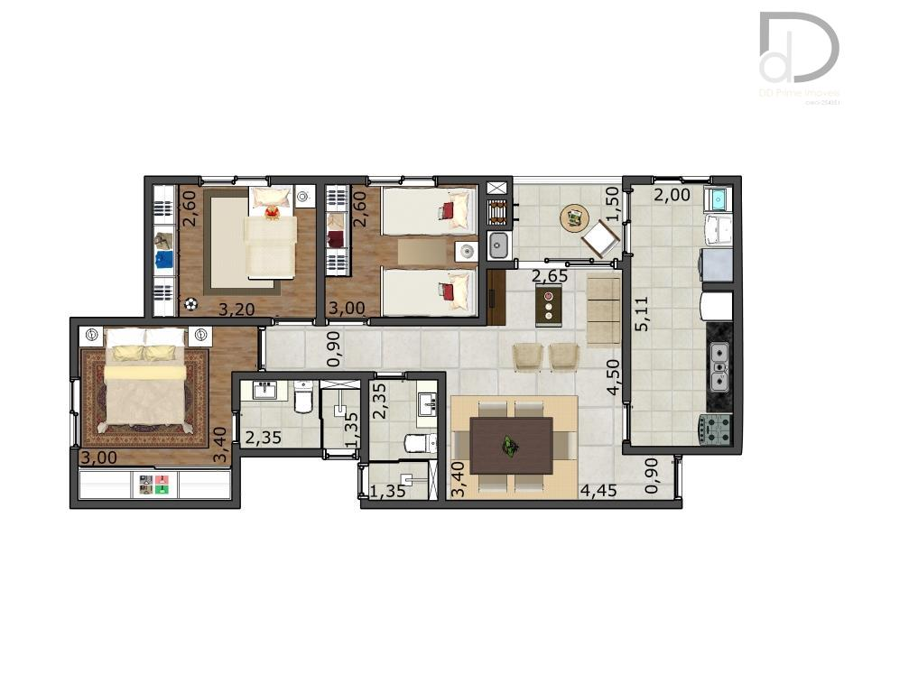 lançamento, apartamento com 3 dormitórios, sendo uma suíte, 2 vagas, entrega no começo de 2017, venha...
