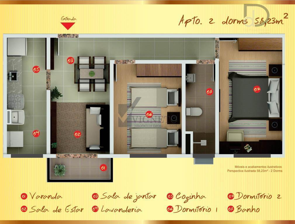 Apartamento  residencial à venda, Condomínio Vienna Residencial l, Vinhedo.