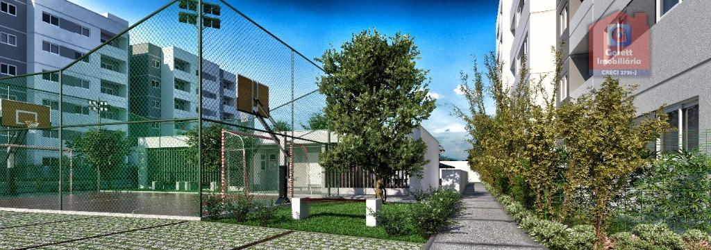 apartamento com dois quartos, medindo aproximadamente 55 m², em um bairro que oferece uma infraestrutura completa...