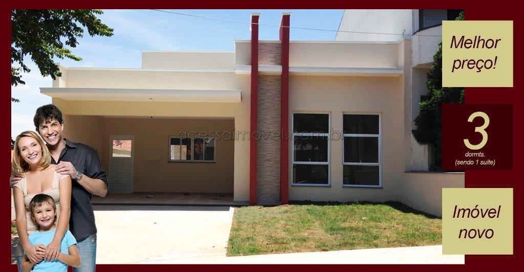 Casa nova á venda no Vivendas do Parque Boituva.
