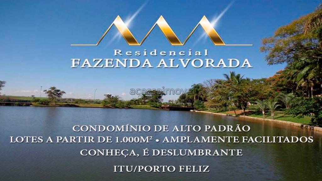 Terreno residencial à venda, Residencial Fazenda Alvorada, Boituva.