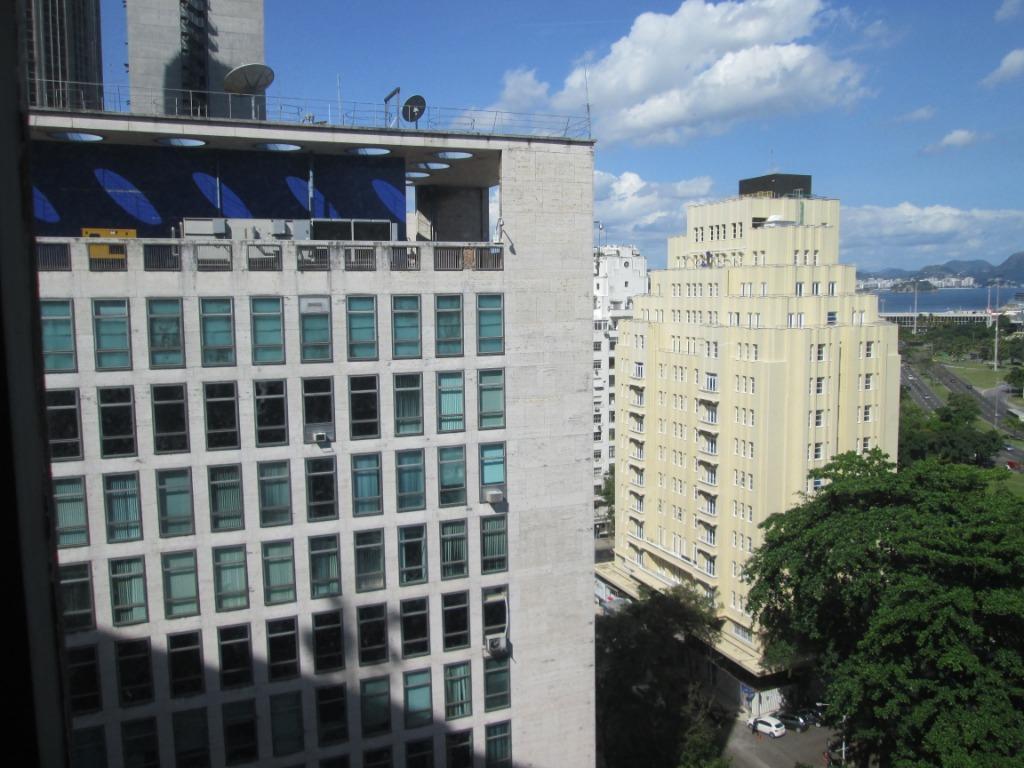 rua méxico - sala comercial com 247 m2, vista bahia de guanabara, recepção, 7 salas, 3...