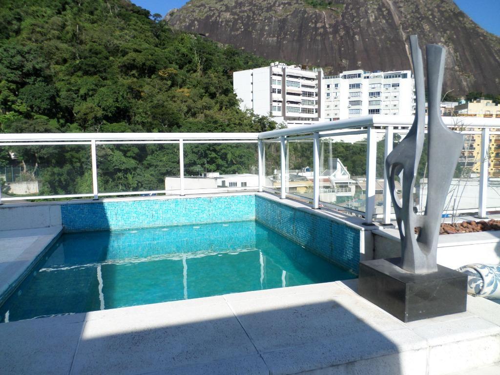 Cobertura com 3 dormitórios à venda, 267 m² por R$ 4.300.000 - Lagoa - Rio de Janeiro/RJ