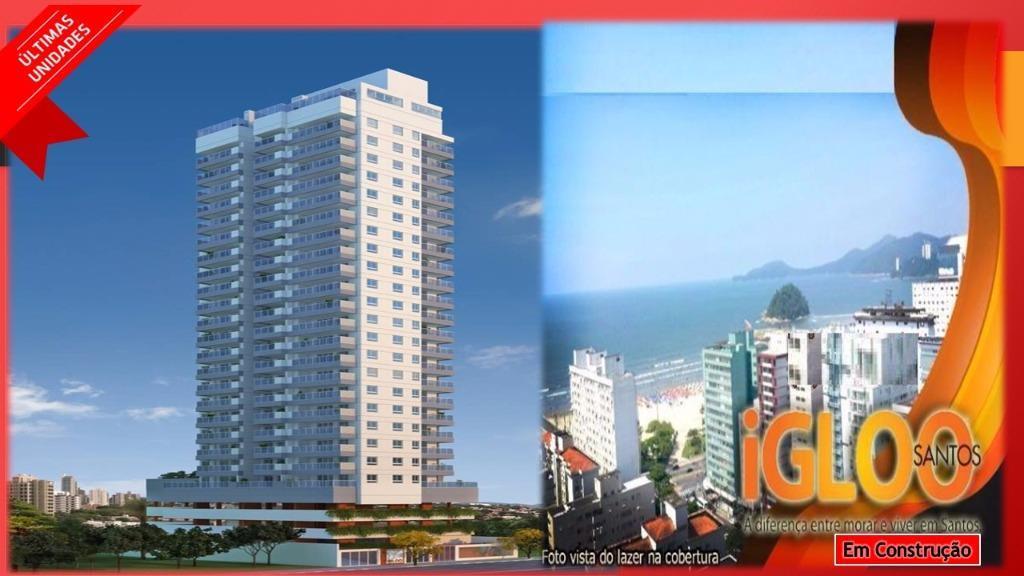 Apartamento de 1 dormitório em Pompéia, Santos - SP