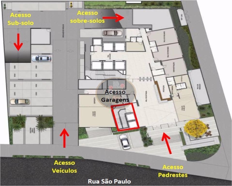 Sala à venda em Vila Belmiro, Santos - SP