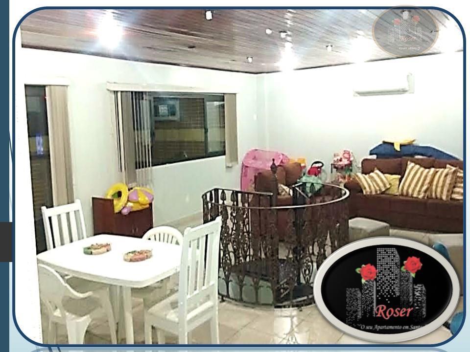 Cobertura de 3 dormitórios em Centro, São Vicente - SP