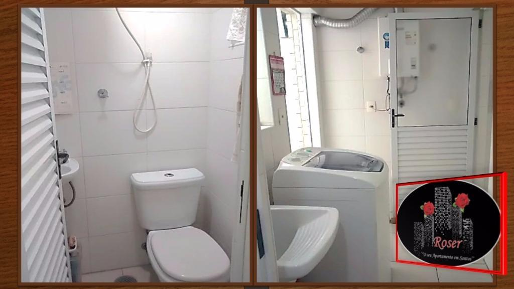 Apartamento de 2 dormitórios em Gonzaga, Santos - SP