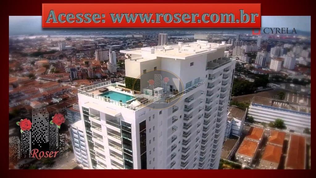Apartamento de 1 dormitório em Boqueirão, Santos - SP