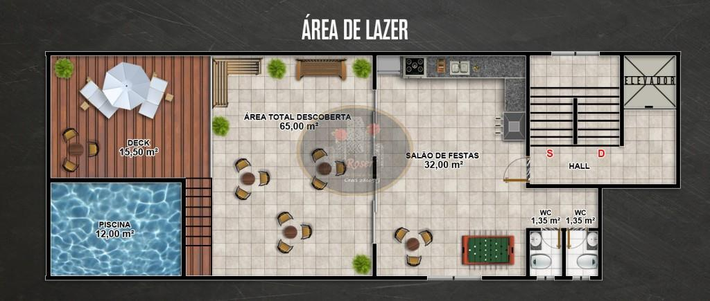 Apartamento Duplex de 3 dormitórios em Vila Voturua, São Vicente - SP