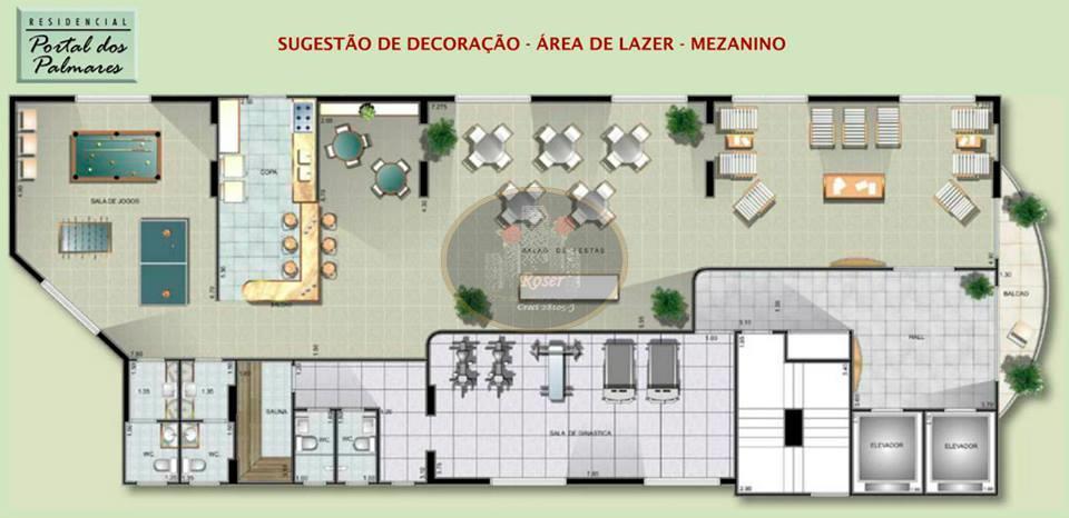 Apartamento de 2 dormitórios em Macuco, Santos - SP