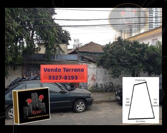 Terreno à venda em Ponta Da Praia, Santos - SP