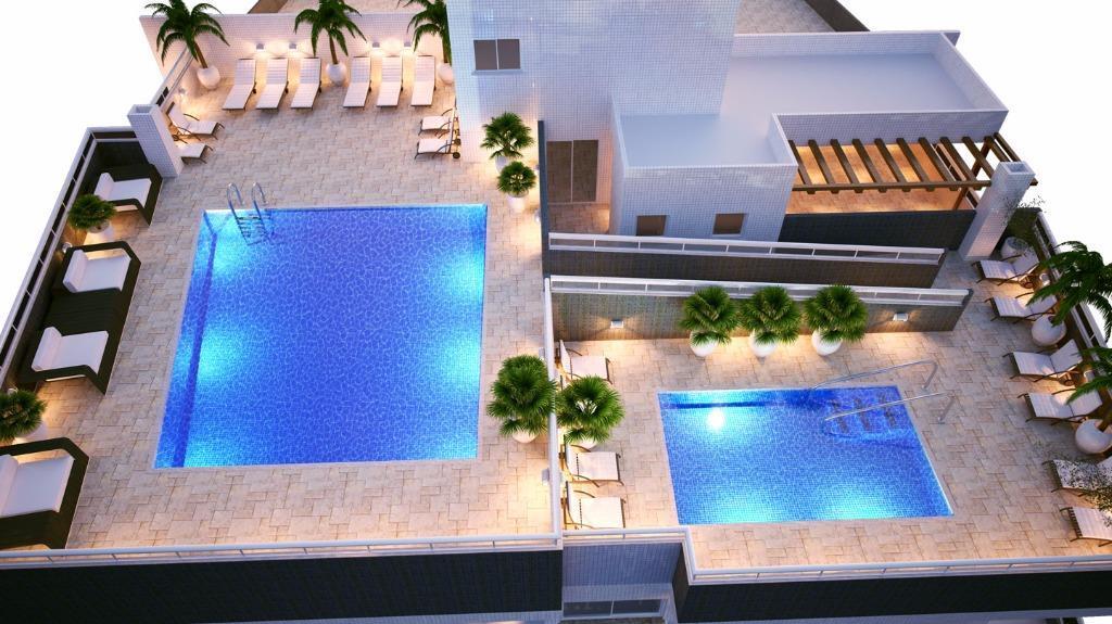Apartamento de 2 dormitórios em Vila Guilhermina, Praia Grande - SP