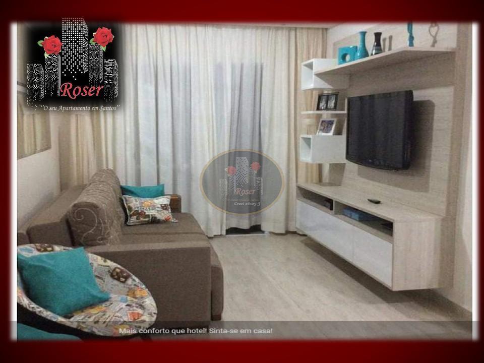 Apartamento de 3 dormitórios em Marapé, Santos - SP