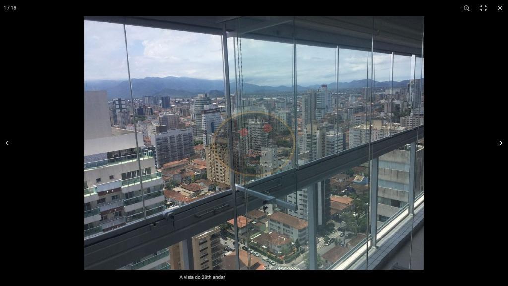 Studio com 1 dormitório para alugar, 57 m² por R$ 3.750,00/mês - Gonzaga - Santos/SP