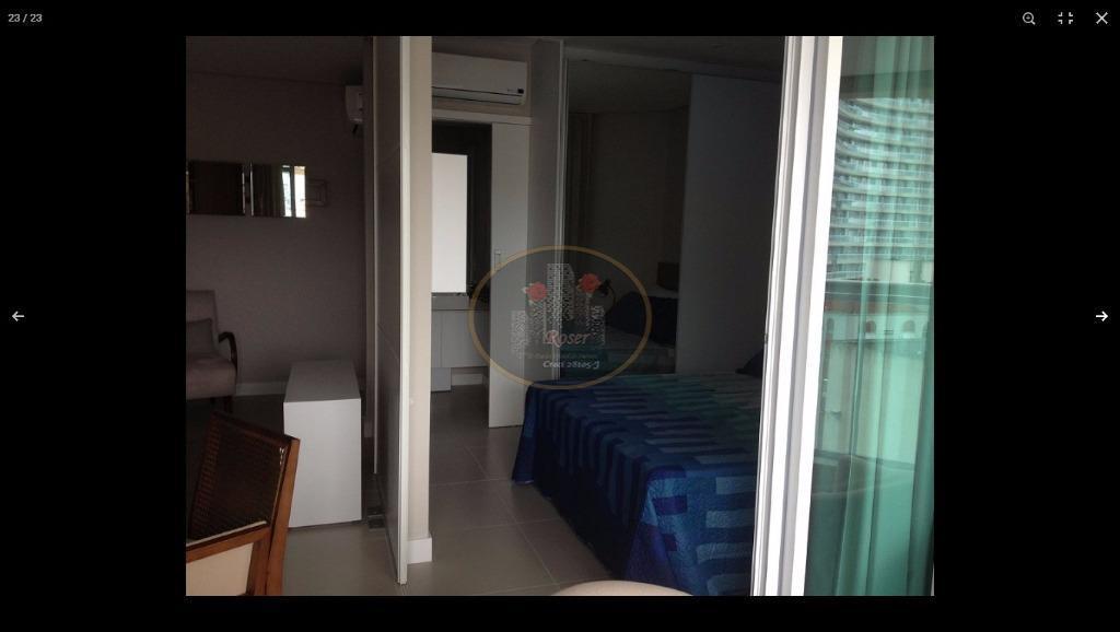 Flat para alugar, 45 m² por R$ 4.100,00/mês - Gonzaga - Santos/SP