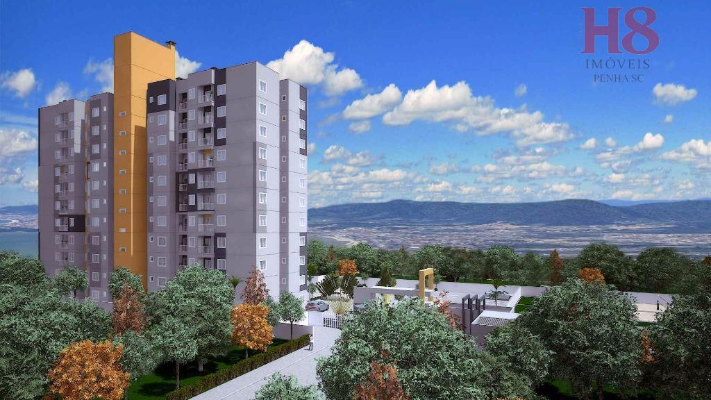 Apartamento residencial à venda, Itacolomi, Balneário Piçarras - AP0043.