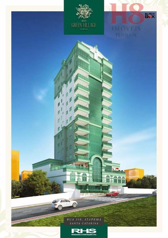 excelente lançamento no centro de itapema/scárea privilegiada a poucos metros do marótimo acabamento3 suítes 2 apartamentos...