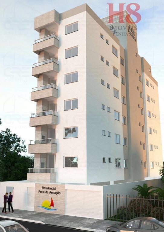 Apartamento com 3 dormitórios à venda, 87 m² por R$ 560.000 - Praia de Armação - Penha/SC