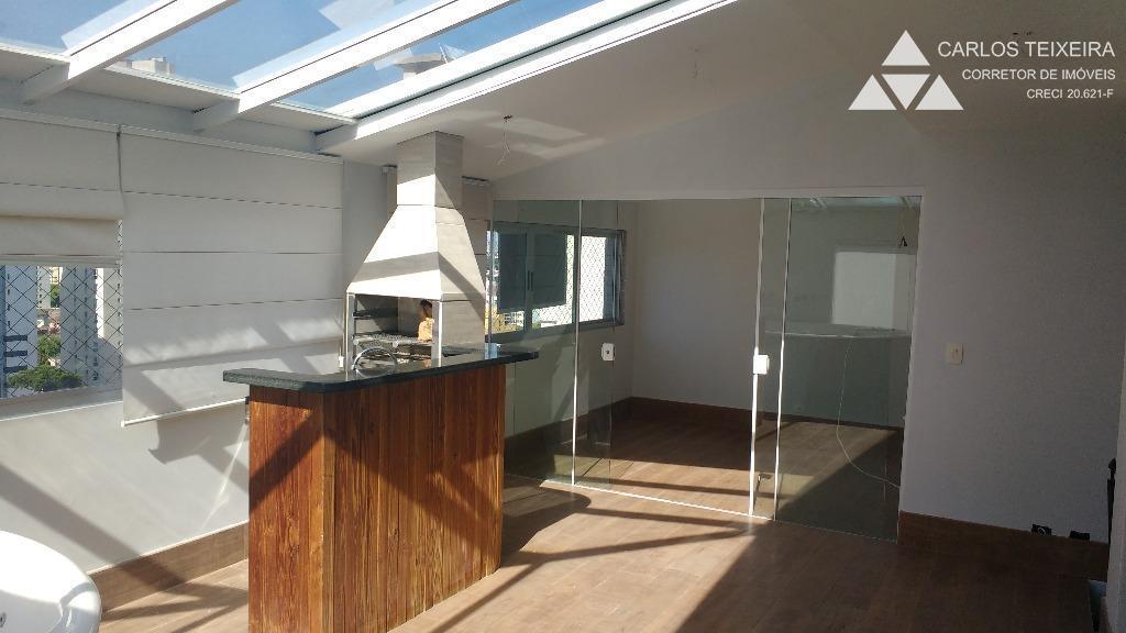 Cobertura à venda, 2 quartos, Edif. Dino Gasparin, Água Verde, Curitiba.