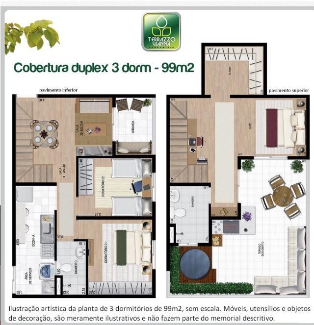 Apartamento de 3 dormitórios em Terrazzo Vianna, Cotia - SP