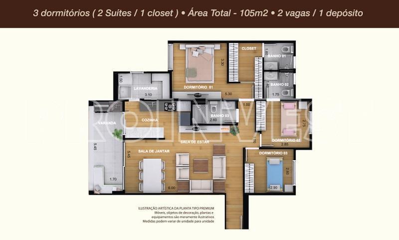 Apartamento de 3 dormitórios à venda em Granja Viana, Cotia - SP