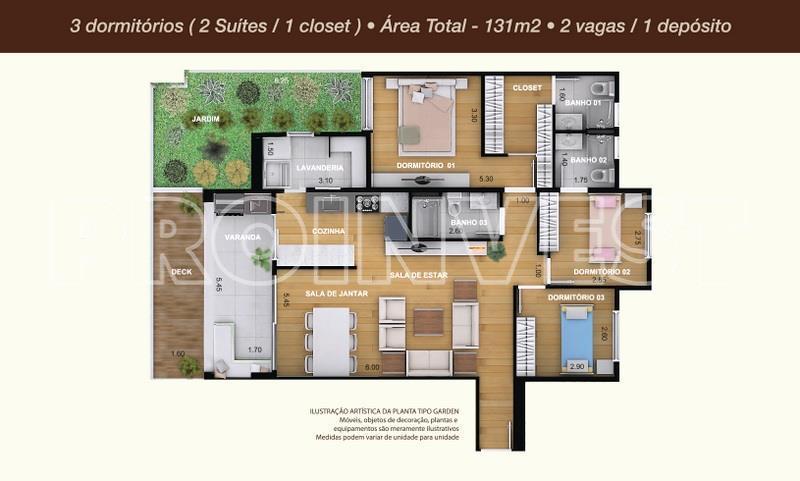 Apartamento de 3 dormitórios em Residencial Costa Do Marfim, Cotia - SP