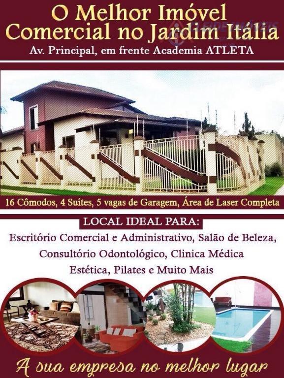 Sobrado Comercial/ Residencial,  à Venda Avenida Itália, Jardim Itália, Cuiabá -MT