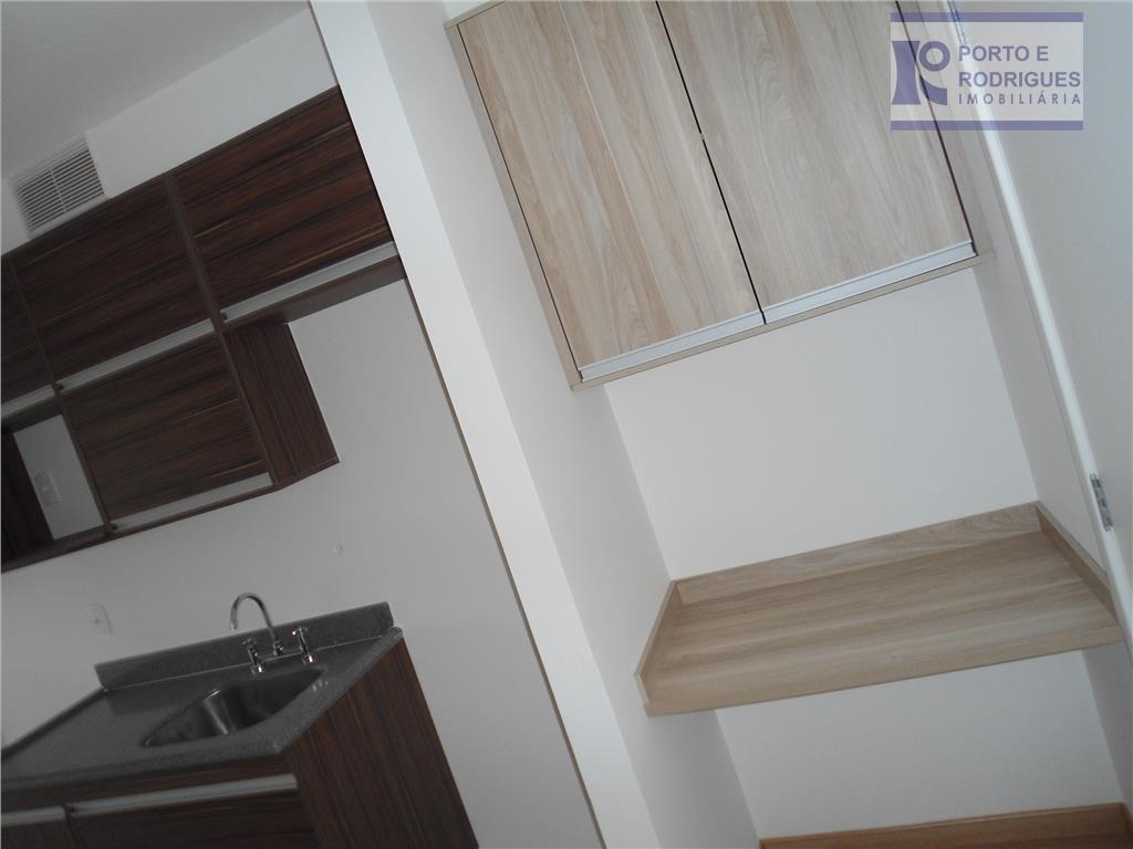 lindo flat em ótima localização no cambuí, com armários, sacada, edifício com home cine, espaço gourmet,...