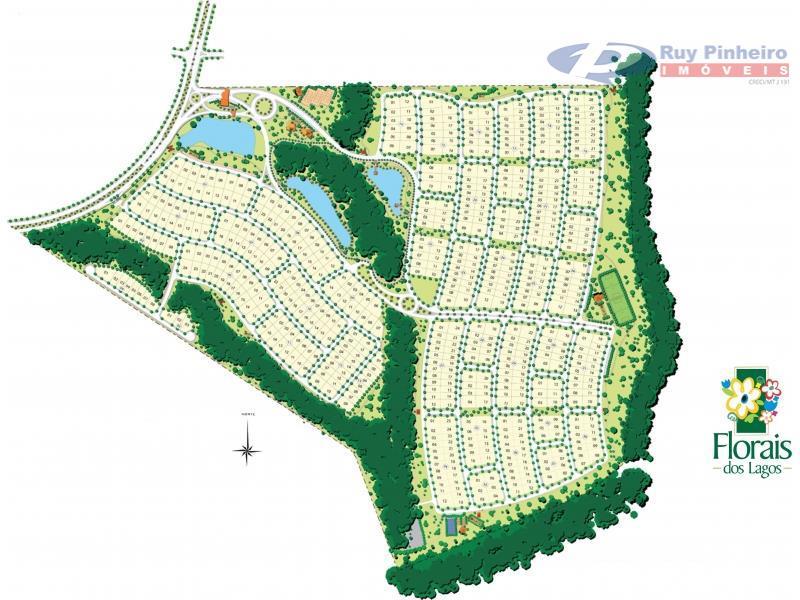 Terreno  residencial à venda, Condomínio Residencial Florais dos Lagos, Cuiabá.