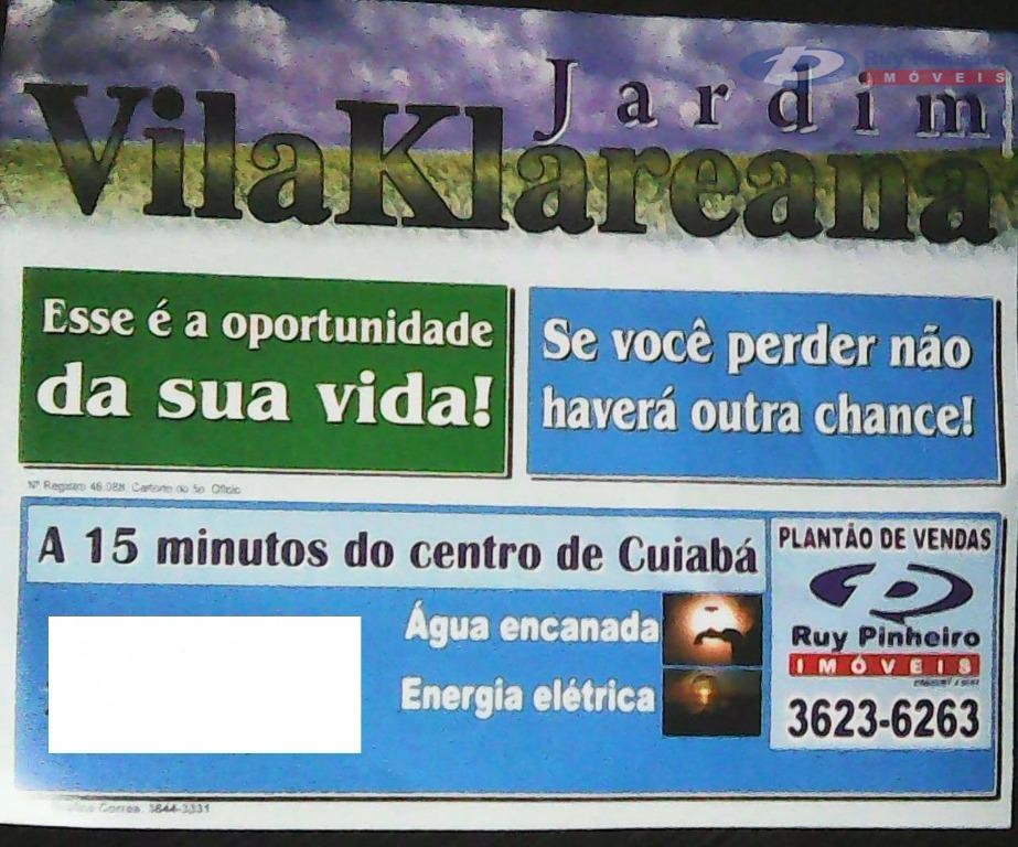 Terreno  residencial à venda, Jardim Nossa Senhora Aparecida, Cuiabá.