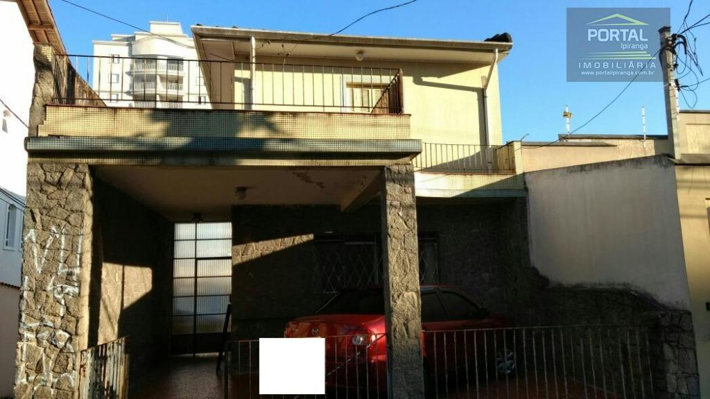 sobrado à venda no ipiranga com entrada lateral, 02 dormitórios, sala, cozinha, 02 banheiros, área de...