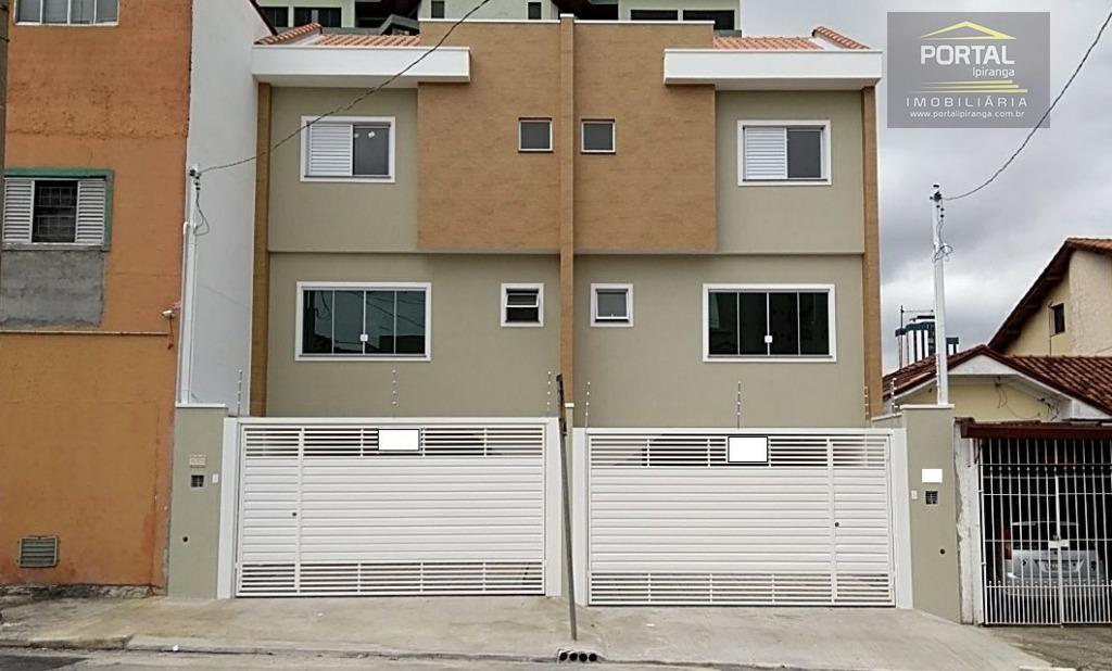 Sobrado novo (nunca habitado) à venda, Vila Moinho Velho, São Paulo.