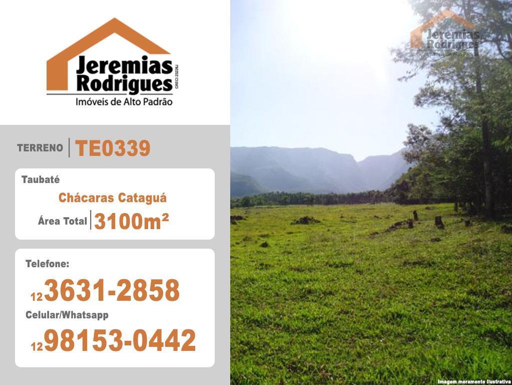 Terreno residencial à venda, Condomínio Chácaras Cataguá, Taubaté - TE0339.