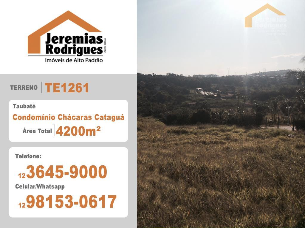 Terreno residencial à venda, Chácaras Cataguá, Taubaté.