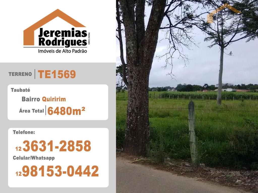 Terreno residencial à venda, Quiririm, Taubaté - AR0283.