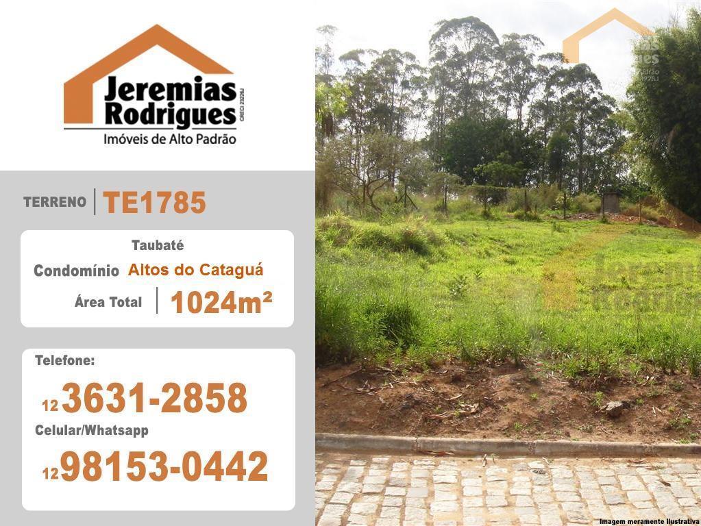 Terreno residencial à venda no Condomínio Chácaras Cataguá em Taubaté