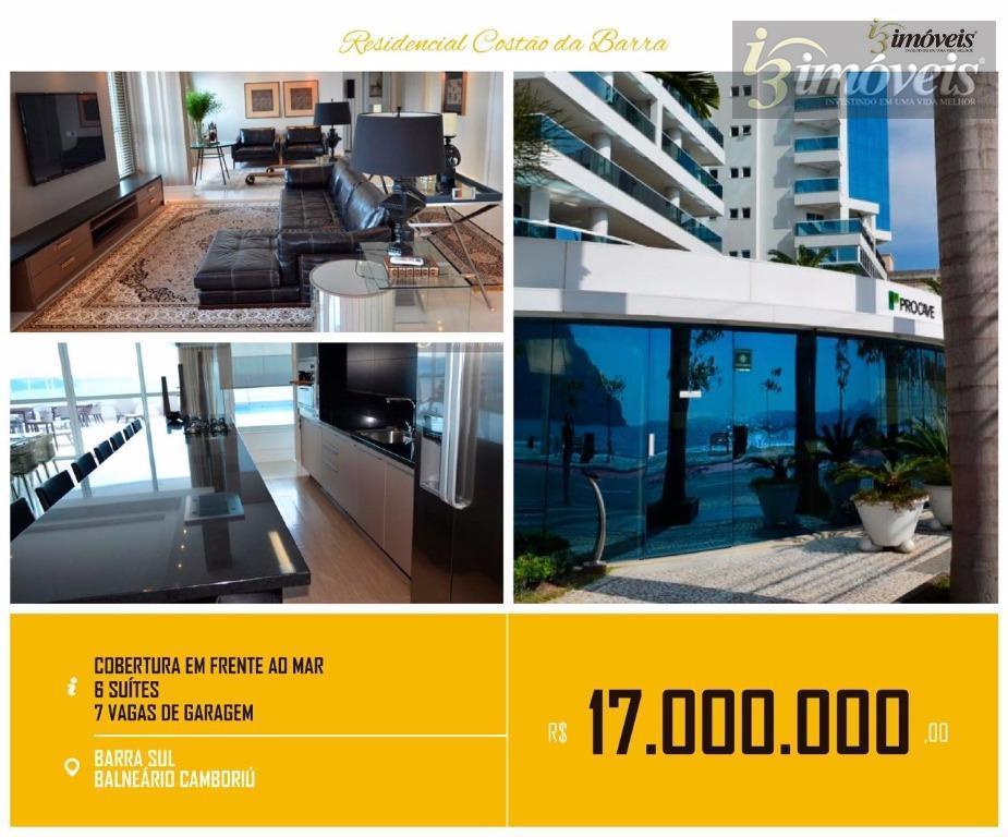 Cobertura duplex 605m² frente mar Balneário Camboriú