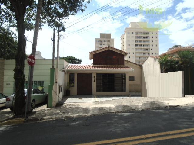 Casa comercial para locação, Cambuí, Campinas - CA0468.