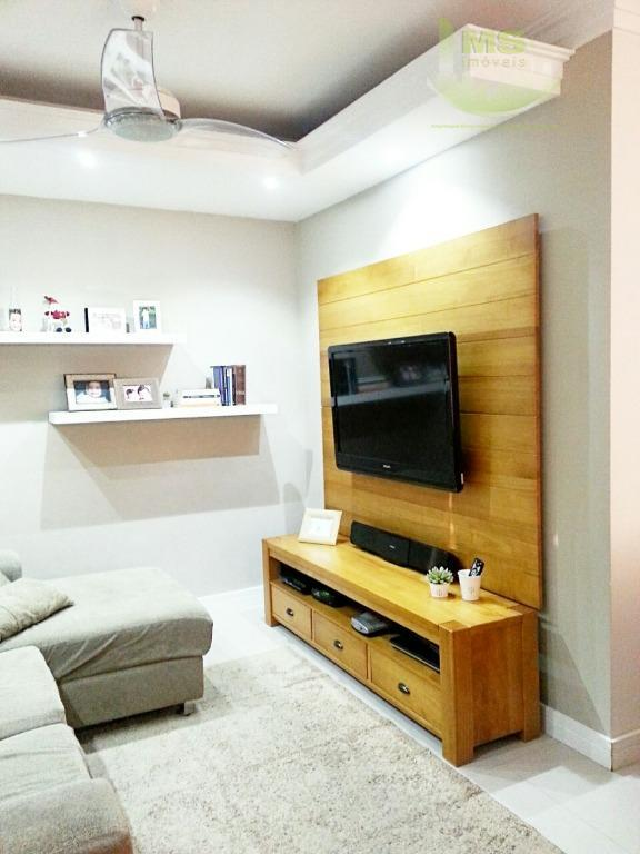 maravilhoso sobrado, diferenciado, fino acabamento, em 96 m² : piso inferior com sala para até 3...