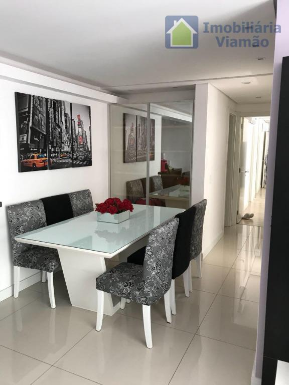 excelente apartamento finamente decorado com 90m² privativos, 3 dormitórios, sacada, churrasqueira, ampla suíte, 2 vagas de...
