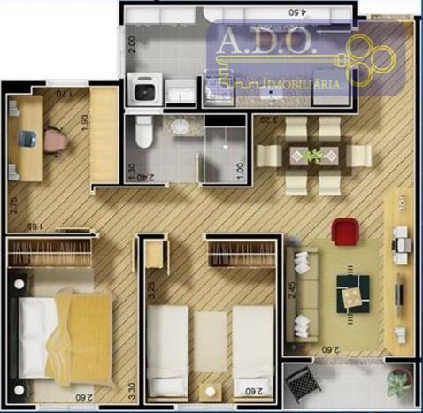 Apartamento  à venda, Cond. Piemont, Vila Industrial, Campinas.